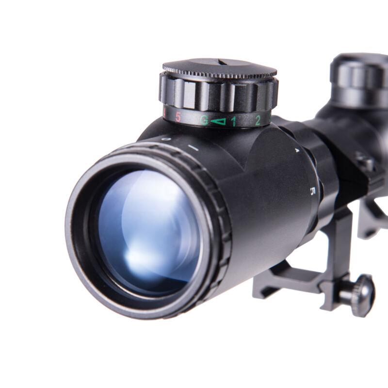 Rifle Scope Mil-Dot Illuminated Red & Green 3-9X40 E Optics Hunting Air Sniper 4