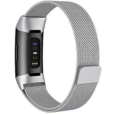 Fitbit Charge 3 Stainless Steel Band Strap Magnetic Replacement Spare Wristband 2