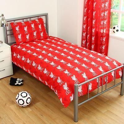 Liverpool Fc Pulse Single Duvet Cover Set Reversible Football Bedding 2