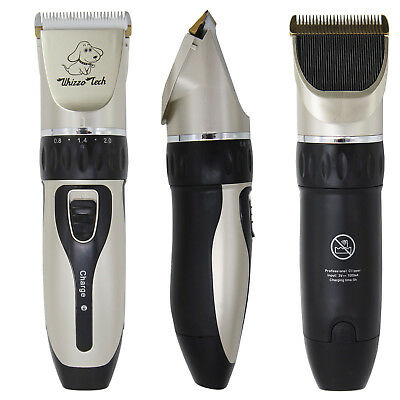 Pet Grooming Clippers Kits Low Noise Dog Cat Rechargeable Cordless Hair Trimmer 11