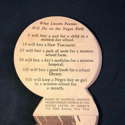 "RARE Presbyterian Mission ""My Album of Lincoln Heads"" Pennies Coins Savings Card 2"