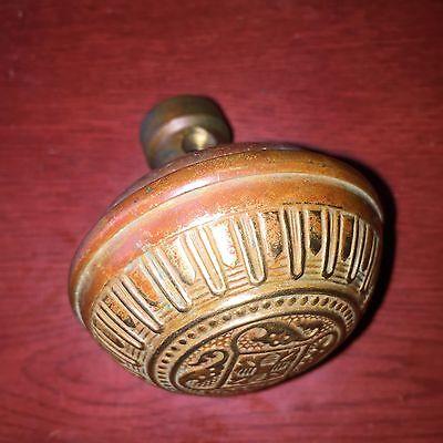 Antique victorian H'213 Egyptian Eastlake Solid Bronze door knob 2