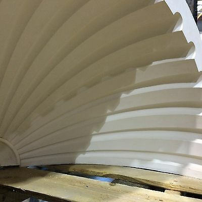 2 Fluted NICHE CAP SHELLS (Handmade) Absolute Spectacular! Achitectural Plaster 3