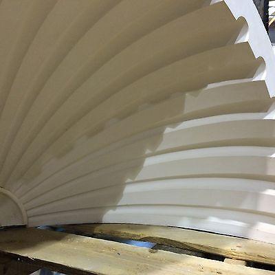 2 Fluted NICHE CAP SHELLS (Handmade) Absolute Spectacular! Achitectural Plaster 3