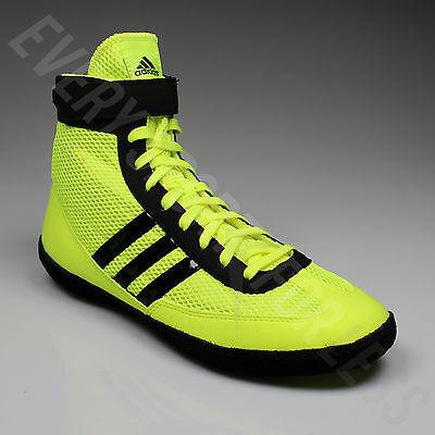 ... Adidas Combat Speed 4 Wrestling Shoes S77933 -Solar Yellow Black (NEW)  Lists 7bdacc344