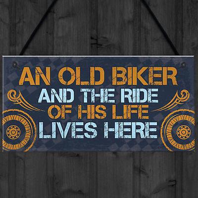 GRUMPY OLD BIKER BEANIE HAT BIKER GIFT