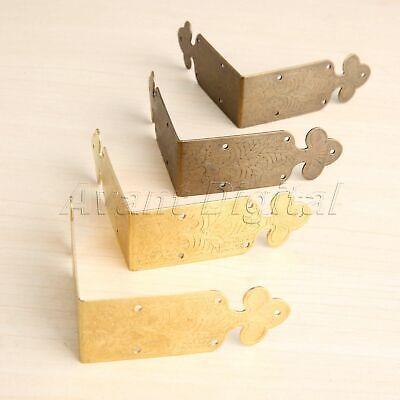 2Pcs Furniture Wooden Box Edge Covers Corner Decorative Protectors Door Hardware