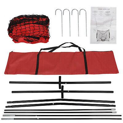 7x7Ft Bow Frame Baseball Softball Teeball Practice Batting Training Net W/Bag 8