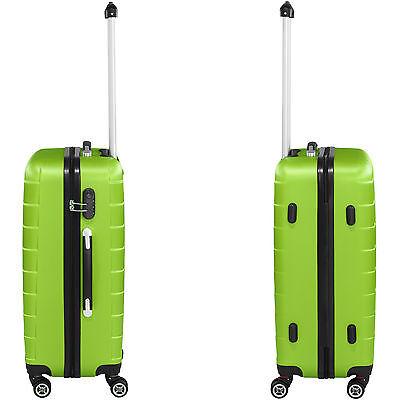 Set 3 Maletas ABS Juego de Maletas de Viaje Trolley Rígidas Verde con Candado 5