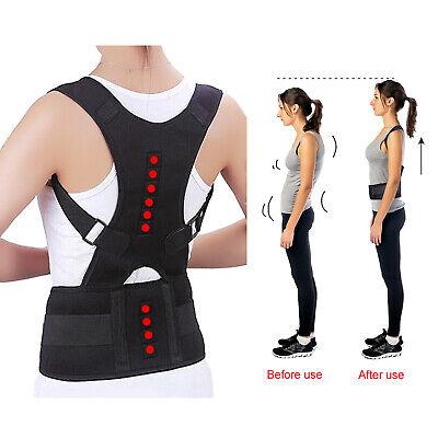 Posture Corrector Support Men Women Magnetic Back Shoulder Brace Belt Adjustable 7