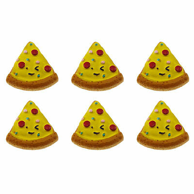 12/20pcs Pizza Slice Resin Flatback Cabochons DIY Accessories Craft Findings 6
