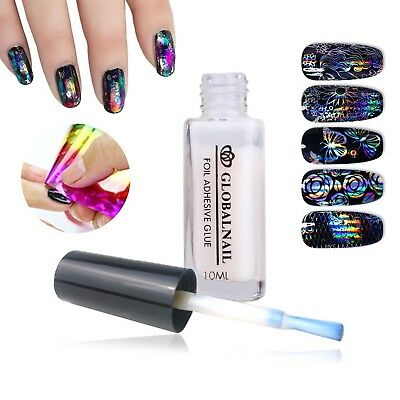 TRANSFER FOIL ADHESIVE NAIL GLUE  Star For Paper White Clear 10ML 8