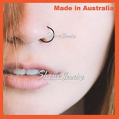 6-8-10mm Sterling Silver Small Hoop Earring Sleeper Ear Nose Lip Piercing Ring 6