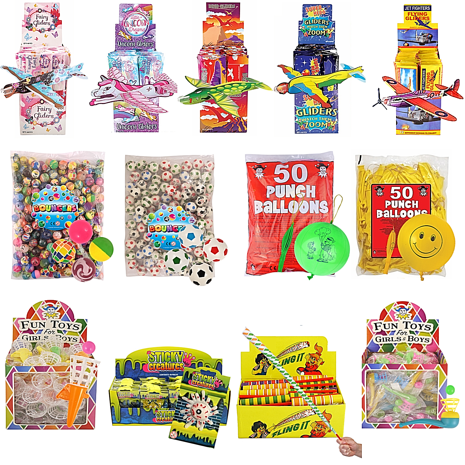 Bulk Buy Job Lot Wholesale Kids Toy Prizes Party Bag Fillers Xmas Fair PTA Event 2