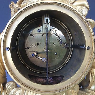 French Clock Garniture in  Gilt Bronze and Marble Circa 1880 6