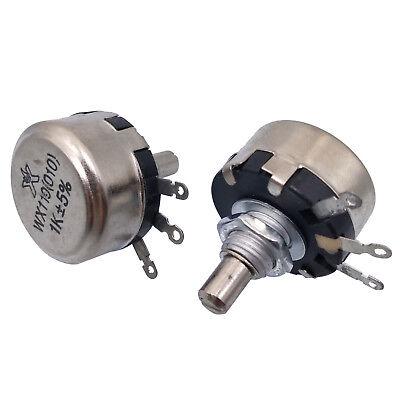 2pcs 22K ohm 1 Watt Wirewound Potentiometer Pots.