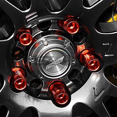 Neo Chrome 20 PCS M12X1.25 Lug Nuts Short Tuner Aluminum Wheels Rims Cap WN01 6