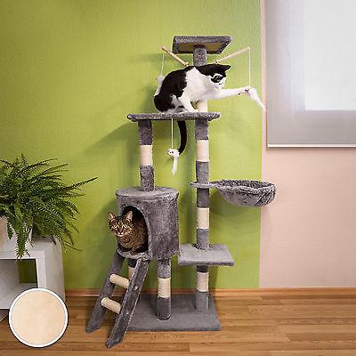 Arbre à chat griffoir grattoir jouet animaux douillet et peluché beige 3