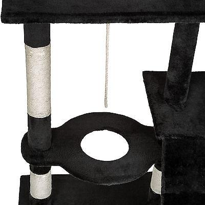 Arbre à chat xxl griffoir grattoir geant avec 2 grottes noir 6