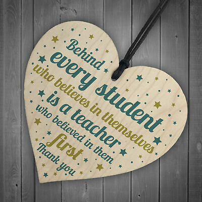 Gift For Teacher And Assistant Wood Heart Plaque Thank You Gifts Leaving School 6