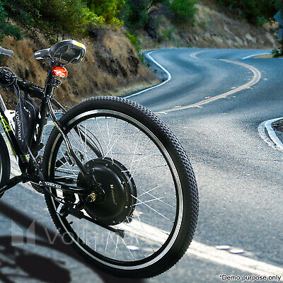 "Voilamart  Electric Bicycle E-Bike 26"" Front Rear Wheel Motor Conversion Kit 3"