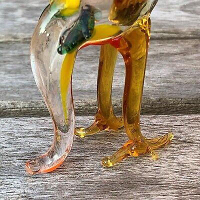 "Vintage Italian Murano Art Glass Miniature Animal Figurine Cock Cockerel 4""/10cm 5"