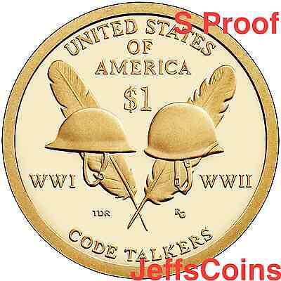 2016 & 2017 S SACAGAWEA NATIVE AMERICAN Code Talkers + Sequoyah Proof Dollars 3