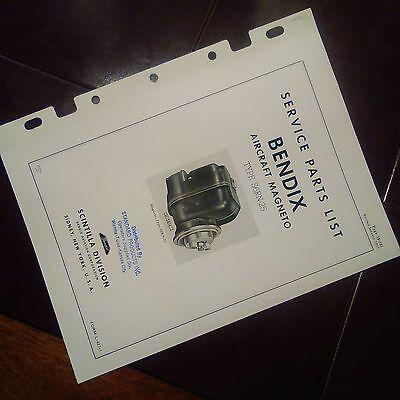 BENDIX-SCINTILLA MAGNETOS S6RN-25 Parts Booklet