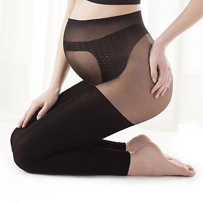 Gatta Heilende Damen Komfort Umstandsleggings für Schwanger Stützt Bauch 100 DEN