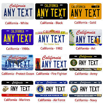 Personalized Custom License Plate Tag for California Auto Car Bicycle ATV Bike 2