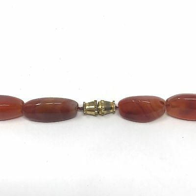 (eVB946)  Tibet : Old Carnelian Beads Necklace (60cm) 7