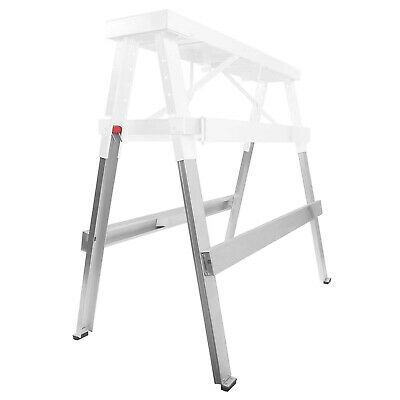 "Drywall Bench Sawhorse Step Ladder - Adjustable Height Workbench 18""-44"" 5"
