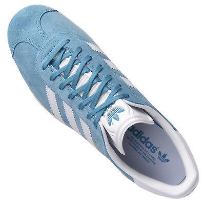 ADIDAS GAZELLE FEMME Fille Chaussures Cuir de Sport Bleu L'Été 36 ...