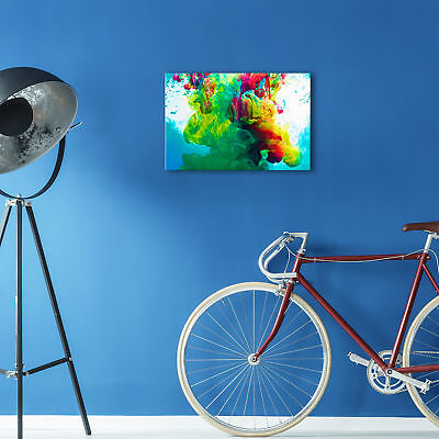 ZAB352 Colourful Cool Funky Modern Canvas Abstract Home Wall Art Picture Prints 2
