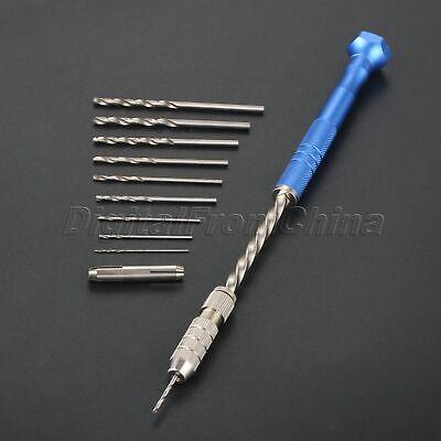 Semi-automatic Mini Hand Drill Chuck Micro Twist Hobby Tool 0.3-3.6mm Blue