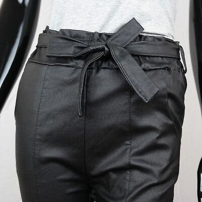 e2aee03830cc ... Pantaloni Donna effetto Pelle Ecopelle Lucido Vita Alta Vintage Nero  Sexy Moda 4