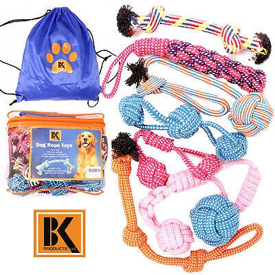 Dog Toys - 8 Large Dog Rope Toys for Medium and Large Dogs- BK 2