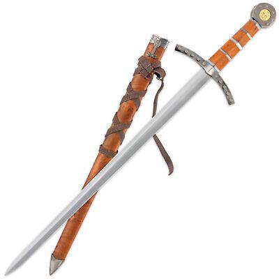 "23"" King Arthur Excalibur Medieval Crusader Sword Scabbard Historical Fantasy 2"