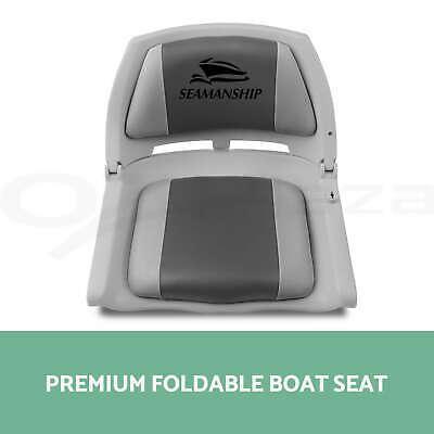 2X Folding Boat Seats Seat Marine Seating Set All Weather Swivel 2