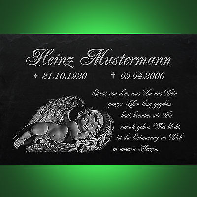Motiv◄ 30 x 20 cm Historische Baustoffe Grabsteine Grabstein GRABPLATTE Gedenkplatte Biker 02►Gravur Ihr Text