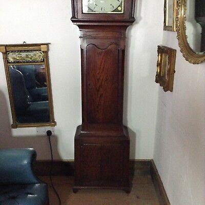 Antique Oak Grandfather Clock 2