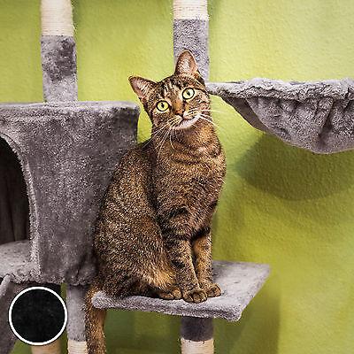 Arbre à chat griffoir grattoir jouet animaux douillet et peluché noir 2