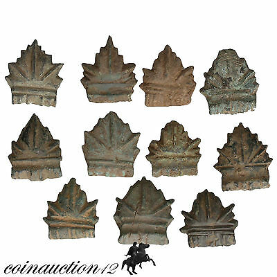 Nice Collection Of 11 Roman Bronze Home Decorations Appliques 2