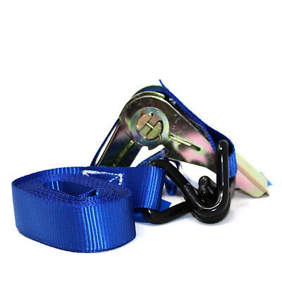 HEAVY DUTY RATCHET TIE DOWN STRAP 4M x 25MM WITH CHASSIS HOOK TIE DOWN STRAPS 2