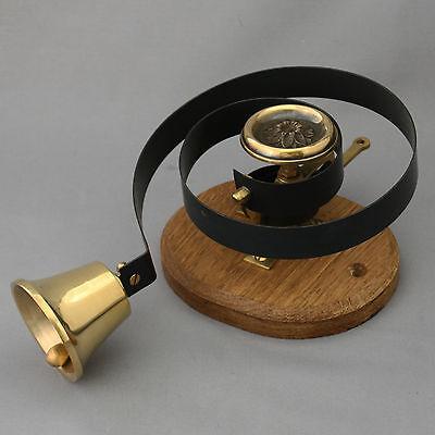 Brass Claverley Front Door Bell Pull & Bell 8