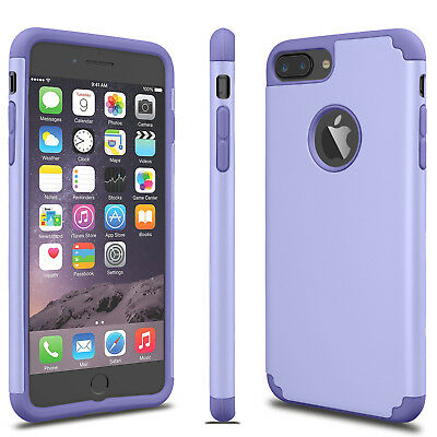 For iPhone 6S 7/8 Plus + Phone Case Luxury Shockproof Rugged Rubber Hard Cover 8
