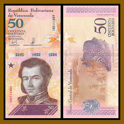 Venezuela 2 5 10 20 50 100 200 500 Bolivares Soberanos (8 Pcs Full Set) 2018 New 7