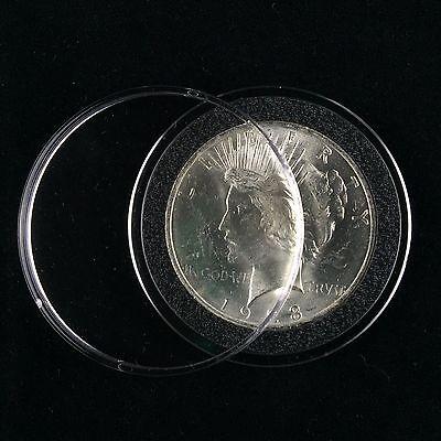 Peace /& Ike Dollars 50 Airtite Coin Capsule Holders w BLACK Rings For Morgan