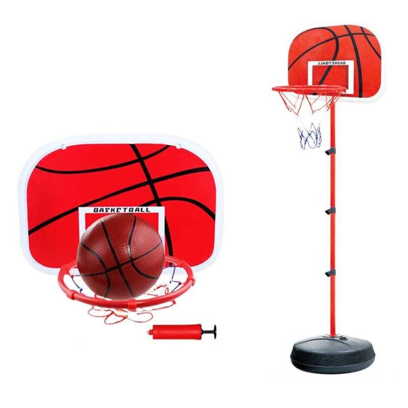 Adjustable 170cm Kids Basketball Back Board Stand & Hoop Set Children Gift UK 4
