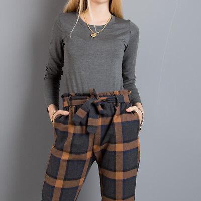 Maglia donna pullover maglioncino aderente girocollo sotto